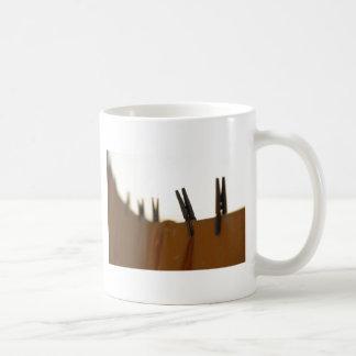 Washing line basic white mug