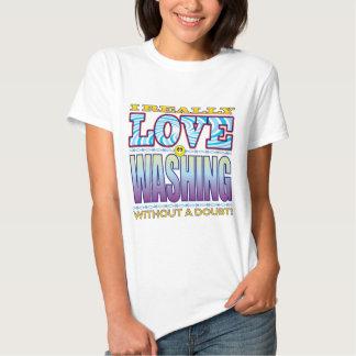 Washing Love Face T Shirts