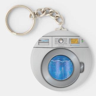 Washing Machine Basic Round Button Keychain