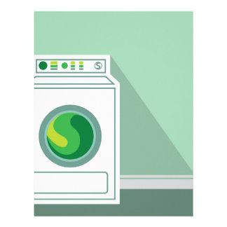 Washing Machine Laundry Room Letterhead