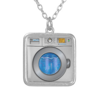 Washing Machine Silver Plated Necklace