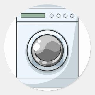 Washing machine classic round sticker