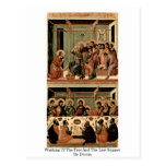 Washing Of The Feet And The Last Supper By Duccio Postcards