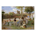 Washing on the Tiber, 1864 Cards