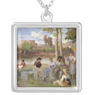 Washing on the Tiber, 1864 Custom Necklace