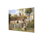 Washing on the Tiber, 1864 Gallery Wrapped Canvas