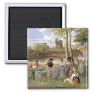 Washing on the Tiber, 1864 Magnet