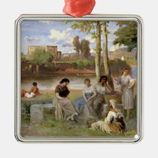 Washing on the Tiber, 1864 Christmas Tree Ornament