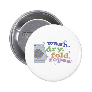 Washing Repeat 2 Inch Round Button