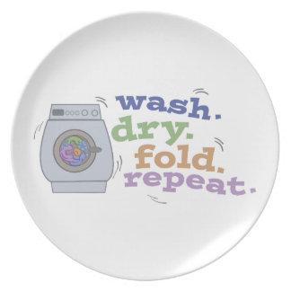 Washing Repeat Plates