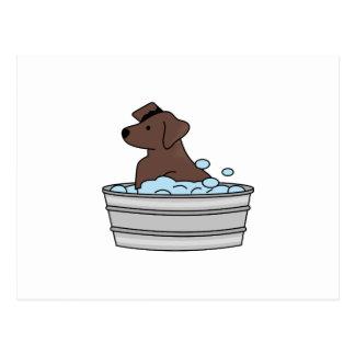 Washing the Dog Postcard