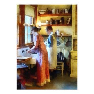 Washing Up After Dinner Custom Invites