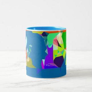Washing Up (With the Cat) Abstract Art Mug