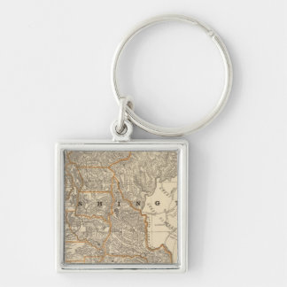 Washington 2 Silver-Colored square keychain