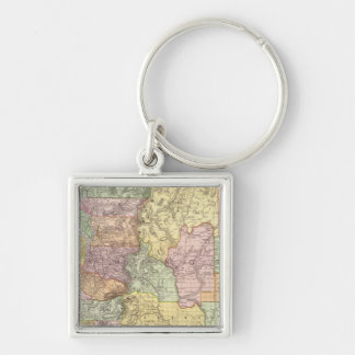 Washington 3 Silver-Colored square keychain