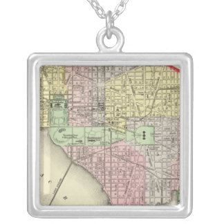 Washington 3 silver plated necklace