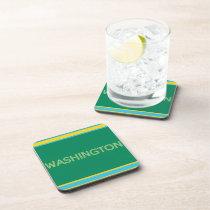 Washington 6-Piece Hard Plastic Coaster Set