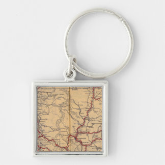 Washington 6 Silver-Colored square keychain