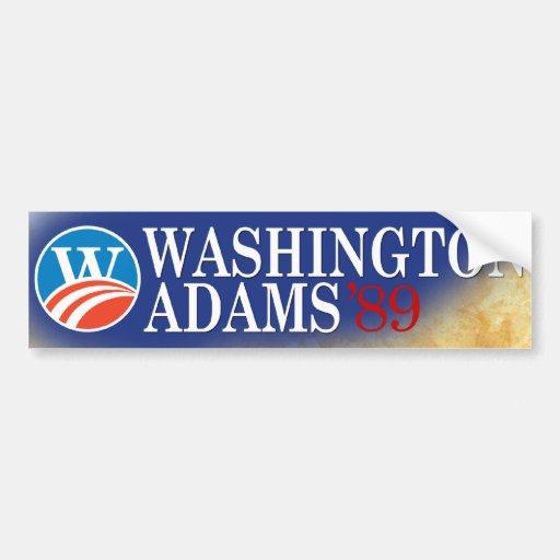Washington - Adams 2008 Style Bumper Sticker Car Bumper Sticker