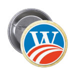 Washington - Adams 2008 Style W Button