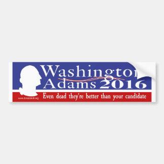 Washington Adams 2016 Pegatina Para Auto