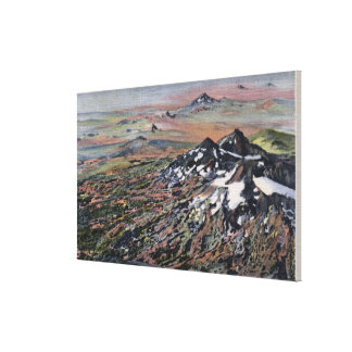 Washington - Aerial of the Cascade Range Canvas Prints