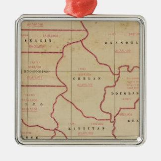 Washington agric, farm values, products, acreages metal ornament