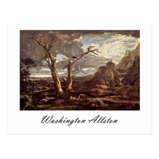 Washington Allston Elijah Fed by the Ravens Postcard