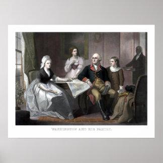Washington And His Family Poster
