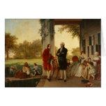 Washington and Lafayette at Mount Vernon 1784 Greeting Card