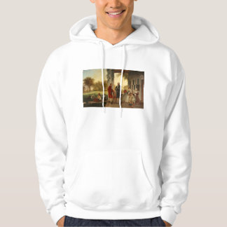 Washington and Lafayette at Mount Vernon 1784 Hoodie