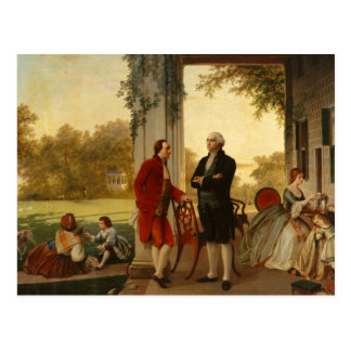 Washington and Lafayette at Mount Vernon 1784 Post Cards
