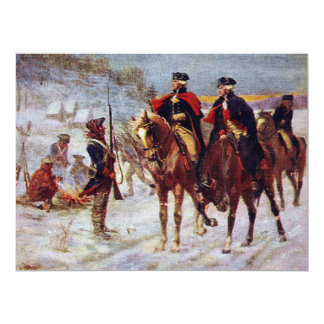Washington and Lafayette at Valley Forge ~ 6.5x8.75 Paper Invitation Card