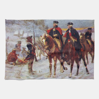 Washington and Lafayette at Valley Forge ~ Kitchen Towel
