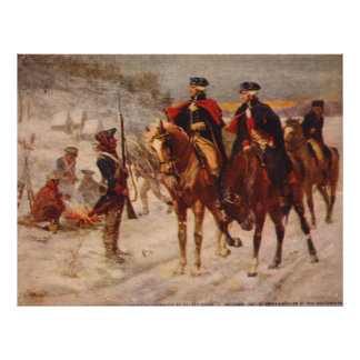 Washington and Lafayette at Valley Forge Poster
