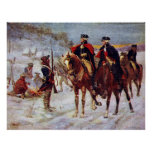 Washington and Lafayette at Valley Forge ~ Print