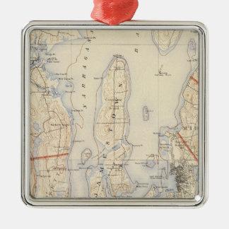 Washington and Newport County Metal Ornament