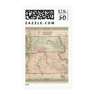 Washington and Oregon and Idaho and Montana Postage