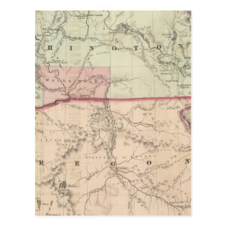 Washington and Oregon and Idaho and Montana Postcard