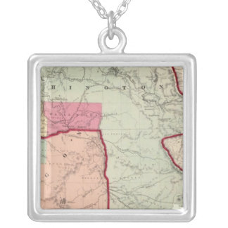 Washington and Oregon Silver Plated Necklace