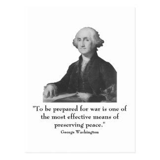 Washington and quote postcard