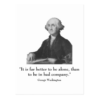 Washington and quote postcards
