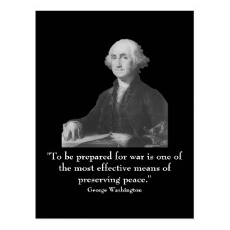Washington and quote post card