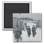 Washington and Steuben at Valley Forge 2 Inch Square Magnet
