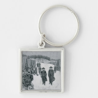 Washington and Steuben at Valley Forge Keychain