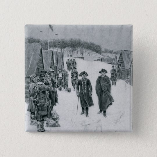 Washington and Steuben at Valley Forge Pinback Button