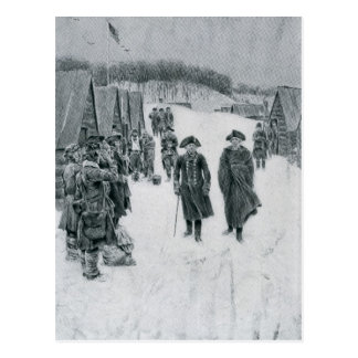 Washington and Steuben at Valley Forge Postcard