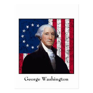 Washington and The American Flag Post Cards
