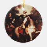 Washington antes de Yorktown de Rembrandt Peale Adorno Navideño Redondo De Cerámica