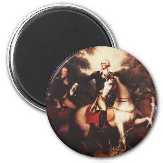 Washington antes de Yorktown de Rembrandt Peale Imán Redondo 5 Cm